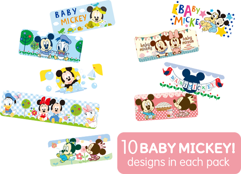 10 baby Mickey ! designs in each pack