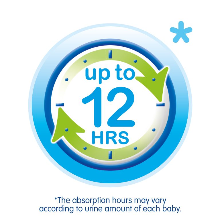 Absorbency up to 12 hours