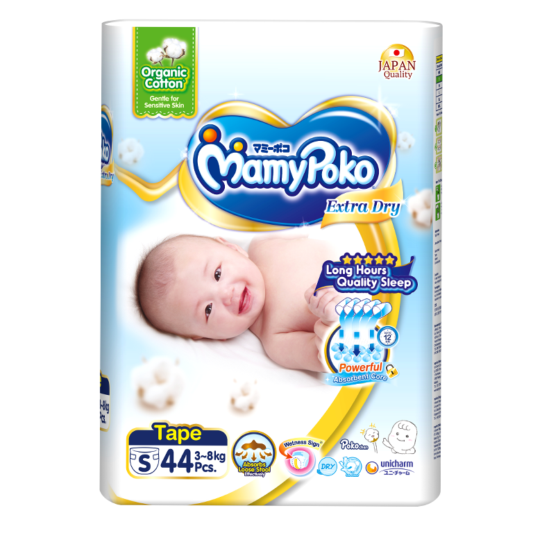 MamyPoko Extra Dry Skin / Size S with Organic Cotton