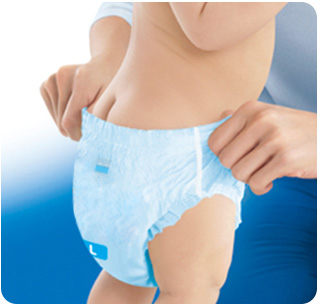 Easy-to-wear Pants-type Diaper!